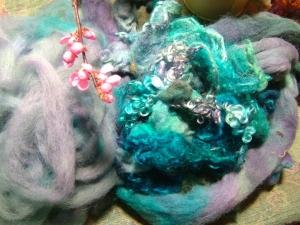My dyeing - merino, angora