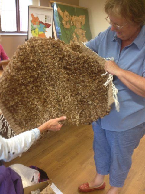Hand spun and woven rug.